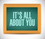 su todo alrededor usted mensaje de la muestra del tablero Foto de archivo