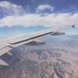 Su un aereo Fotografie Stock Libere da Diritti