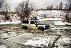 Su un fiume congelato immagine stock libera da diritti