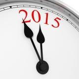 2015 su un orologio Fotografia Stock