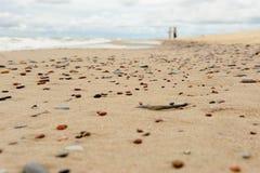 Su un Pebble Beach Fotografia Stock