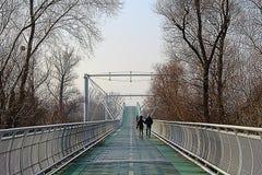 Su un ponte Fotografia Stock