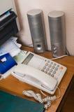Su un tavolo all'ufficio. Fotografie Stock