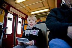 Su un treno Immagini Stock