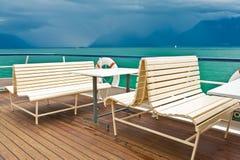 Su una barca Fotografia Stock