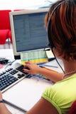Su una call center Fotografia Stock Libera da Diritti