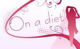 Su una dieta Fotografia Stock Libera da Diritti