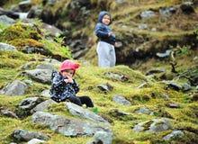 Su una montagna Fotografie Stock