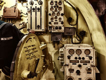 Su una nave da guerra Fotografia Stock
