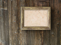 Su una priorità bassa di legno Fotografie Stock