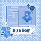 Su una tarjeta del muchacho stock de ilustración
