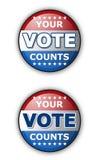 Su voto Imagen de archivo libre de regalías