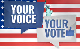 Su voz su voto ilustración del vector
