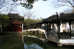 Su Zhou garden royalty free stock photography