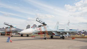 The Su-30 in Zhukovsky Stock Photos