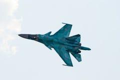 Su34战斗轰炸机 免版税库存图片