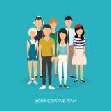 Sua equipe criativa Equipe do negócio teamwork Rede social Imagem de Stock
