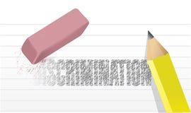 Sua ilustração do erase da discriminação ilustração stock