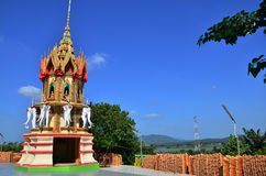 Sua van Tiger Cave Temple of van Wat tham in Kanchanaburi Thailand stock afbeelding