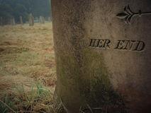 Sua vida, sua morte fotografia de stock