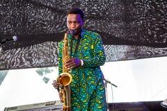 Suaheli Jazz Band Stockfoto
