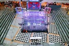 Suan-luang, Bangkok, Thailand, 27 im Januar 2019 Krieg des Stahls, Herausforderung, Battlebots stockfotografie