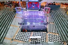 Suan luang,bangkok,thailand,27,jan,2019,war of steel,challenge,Battlebots stock photography