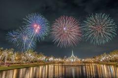 Suan Luang Rama 9 πυροτέχνημα Στοκ Φωτογραφία