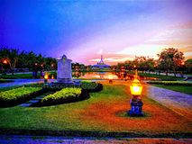 Suan Luang Rama IX in evening royalty free stock image