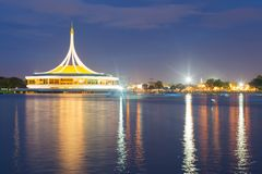 Suan Luang Rama IX. Park in the evening Royalty Free Stock Photos