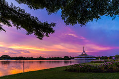 Suan luang rama IX. In sunset time Royalty Free Stock Photography