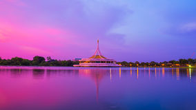 Suan luang rama IX. In twilight time Royalty Free Stock Photo
