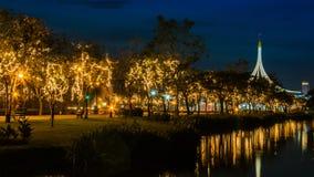 Suan Luang Rama offentlig IX parkerar Bangkok, Thailand Arkivfoton