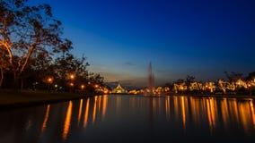 Suan Luang Rama offentlig IX parkerar Bangkok, Thailand fotografering för bildbyråer