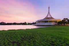 Suan luang Rama 9 public park with beautiful sky after sunset, Bangkok, Thailand Stock Photos