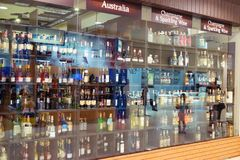 Suan luang Thailand 17 november 2018 alcoholische opslag royalty-vrije stock foto's