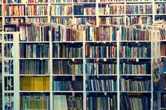 Suan luangThailand 13 november 2018 begagnad bokhandel royaltyfria bilder