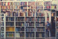 Suan luangThailand 13 november 2018 begagnad bokhandel arkivbild