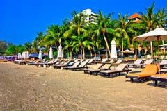 Suan son pradipat beach. A beach is beautiful, the green tree, the sky is blue Stock Photo