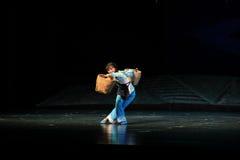Suando a ópera de Jiangxi uma balança romana Fotos de Stock