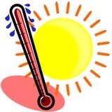 Suando o termômetro Imagem de Stock Royalty Free
