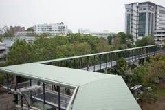 Suandok SkyWalk, τρόπος περιπάτων μεταξύ του κτηρίου χώρων στάθμευσης πάρκων Suandok Στοκ Εικόνες