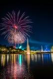 SuanLuang con i fuochi d'artificio Fotografie Stock