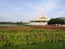 Suanluang RAMA IX park. Suanluang RAMA IX public park with beautiful flower garden, Bangkok, Thailand Royalty Free Stock Photo