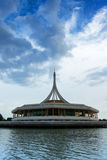 Suanluang Rama IX The public park and museum on the lake, Architecture building. Royalty Free Stock Photo