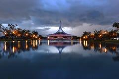 Suanluang Rama IX, ratchamongkhon tower (02). Shoot from King Rama IX Park royalty free stock photo