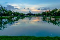 SuanLuang Rama 9 public park in Bangkok. Thailand after sunset Stock Photography