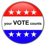 Suas contagens do voto Imagem de Stock Royalty Free