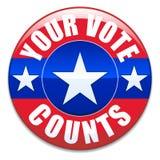 Suas contagens do voto Foto de Stock