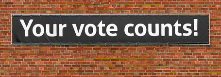 Suas contagens do voto imagem de stock